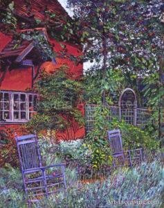 Blue Garden Chairs