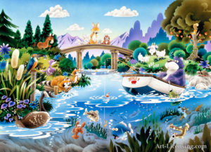 Bear Fishes in Wonder Pond