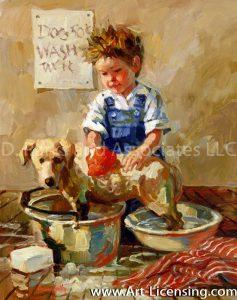 Boy Wash Dog