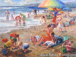 Busy Beach Day