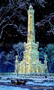 Chicago-Water Tower at Night