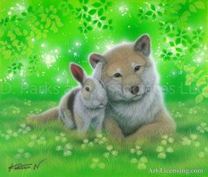 Rabbit and Shiba inu - Together 2