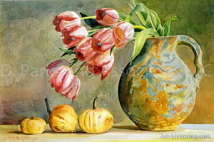 Soft Tulips in the Pottery