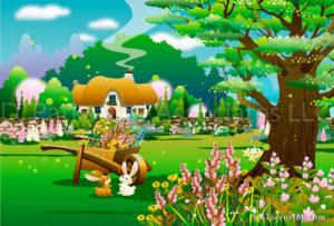 Spring Farm Garden