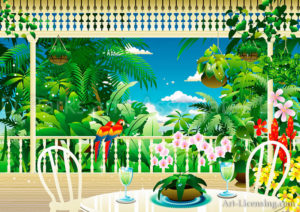 Tropical Garden View