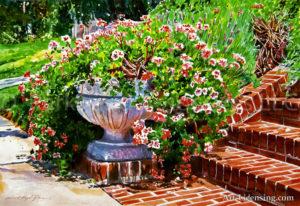 Welcome Flower Urnsteps