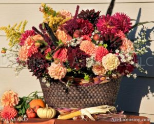 00091-Dahlia Autumn Flower Arrangement