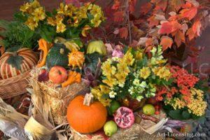 00910-Autumn flower setting-Pumpkin Maple Alstromeria