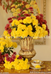 0392-Yellow and Red Mums Bouquets