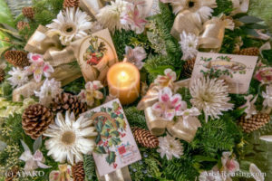 065-Old Christmas cards and Candles