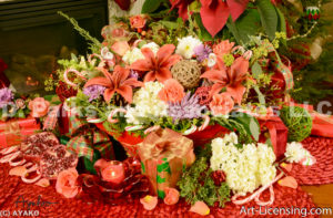 2108-Christmas Flower arrangement
