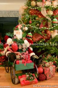 2140-Christmas decoration room and Santa