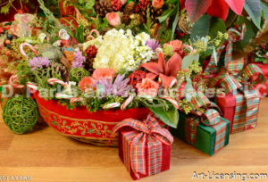 2223-Christmas Basket and Presents