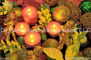 2509- Christmas Angels Candles and Balls