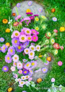 3451H-Aster Bouquet