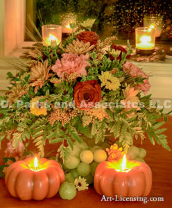 4080-Fall Setting-Rose-Candle