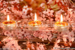 4089-Cherry Blossom and Candles