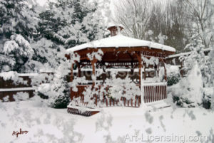 4639-Gazebo in Snow