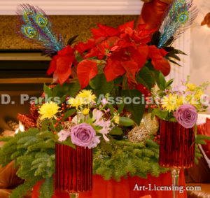 4747-Christmas decoration, Rose, Mums, Poinsettia