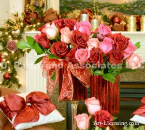 4932-Christmas Red Rose Arrangement