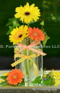 5279-Yellow and Orange Gerbera Bouquet