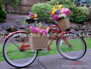 9038S-Flower Bouquet on the Bycicle