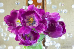 Purple Tulips Bouquet
