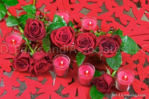 Red Roses and candles Valentine