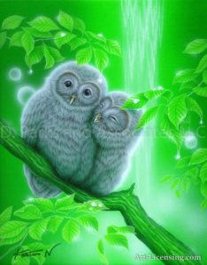 Owl - Nestling-cheeks