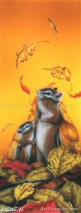 Squirrel--Fallen Leaves