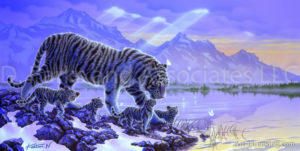 Tiger - Nestling Close
