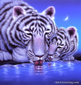 Tiger--Watering Place