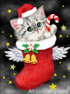 Angel Santa Kitten-C