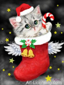 Angel Santa Kitten-C