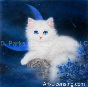 Blue Moon White Kitten