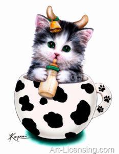Cup Kitten Cow