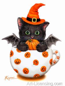 Cup Kitten Pumpkin