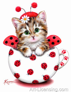 Cup Kitten Red Ladybug