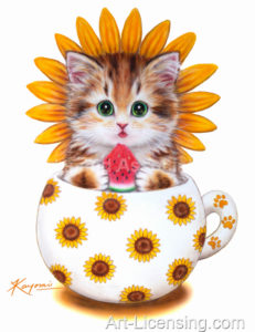 Cup Kitten Sunflower