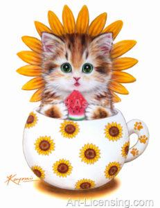 Cup Kitten Sunflower