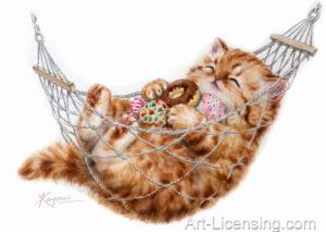 Happy Hammock Kitten