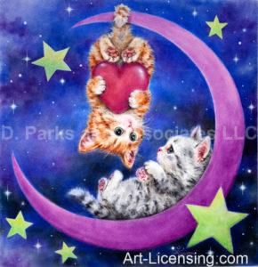 Romantic Moon Kittens
