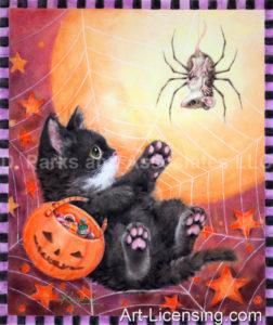 Scary Spider Halloween Kitten