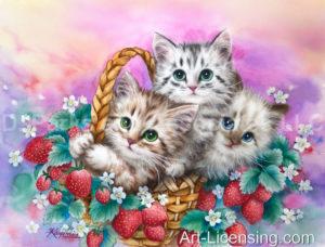 Strawberry Basket Kittens