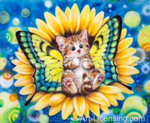 Sunflower Fairy Kitten