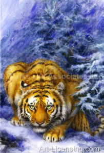 Tiger-Winter Forest