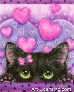 Valentine Black Cat In Love