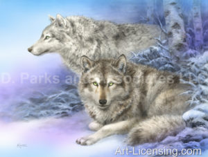 Wolf-Inspired by the Story of Lobo The King of Currumpaw-Lobo and Blanca-Soul Mates
