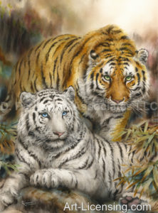 Yellow and White Tiger-Wild Hearts