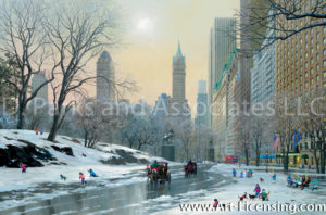 New York-Central Park Entrance Winter-by Alexander Chen